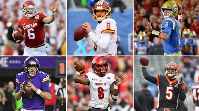 "<p>Free agency is 24 years old. Since the dawn of it, I don't remember a year (because there hasn't been one) with the same combined level of depth at quarterback in the free market and in the draft.</p><p>It's amazing, really. We could see four quarterbacks (Sam Darnold, Josh Rosen, Josh Allen, Baker Mayfield) picked in the top 10 in the April draft. By the end of April, six of the NFL's 12 top-rated quarterbacks from 2017 could either move on or begin to be moved out by their teams.</p><p><strong>Alex Smith (first, with a 104.7 rating) </strong>will be traded from Kansas City to Washington, and will sign a four-year contract extension when the new league year begins March 14 … <strong>Drew Brees (second, 103.9) </strong>will likely re-sign with the Saints, but he's free to sign anywhere come the start of free agency on March 14 … <strong>Case Keenum (seventh, 98.3) </strong>hopes to parlay a career year into a starting job and multiyear contract … <strong>Philip Rivers (ninth, 96.0) </strong>turns 37 this year, and could see the Chargers draft his heir, even coming off a very good year … <strong>Josh McCown (11th, 94.5) </strong>will be 39 in July, but coming off a career year, he could keep the seat warm for the Jets or another team drafting a quarterback of the future … <strong>Kirk Cousins (12th, 93.9) </strong>will be the most attractive vet on the street—assuming Washington doesn't try to franchise him and trade him, which is possible but not likely.</p><p>So, in my first column this winter looking ahead to the offseason, I'm going to do the impossible: guess where each available quarterback will land. On May 1, after free agency and the draft, we'll all have a good laugh over this column. Because I'll be wrong on the vast majority, and maybe all. But we'll go in order, and we'll go by need.</p><p>Again, what follows are my team-by-team best guesses. Send me your pros and cons and best counter-arguments, and I'll use my mailbag this week to give you your say on who's going where.</p><h3>Desperate Need</h3><p><strong>Denver: Kirk Cousins. </strong>GM John Elway has made one mega-signing in his tenure: Peyton Manning, in 2012, when Elway was in desperate quarterback straits. To solve this problem again, I say Elway goes big. Cousins isn't flawless, but he's got seven or eight prime years left (he's 29), and has put a premium on going somewhere he can win, somewhere with a good defense, and somewhere he can walk into the building every day excited about going to work. The Broncos, coming off a 5-11 year, haven't had back-to-back losing seasons since 1971 and 1972, and my bet is on Elway, even at the ridiculous sum of something like $30 million a year, going hard after Cousins to make sure he doesn't have to keep worrying about the position. In the last two years, Denver has employed the 23rd- and 29th-rated quarterback, Trevor Siemian. Elway's had enough of mediocrity. One other thing that will play a role: Elway's willingness to whack a couple of big-ticket defenders, Aqib Talib and Derek Wolfe, from a tight cap situation. It could play a role in clearing enough cap room to fit Cousins onto the roster.</p><p><strong>Arizona: A.J. McCarron. </strong>This would, of course, break Hue Jackson's heart. But I just think the alternatives for McCarron are these: Go to Cleveland, and risk the Browns drafting a quarterback high in the first round, and risk being in the same place he was in Cincinnati, behind Andy Dalton, for the next three or four years … or go to Arizona (or another spot that won't draft a passer high) and be handed the starting job on a team with a playoff defense. Not a very tough choice in my mind. Of course, when you're guessing, no choice is very hard. Also: I wouldn't be surprised to see Arizona focus on Sam Bradford and pick a rookie in the first or second round to supplement him.</p><p><a href=""https://www.si.com/nfl-free-agents-rankings-by-position-2018"" rel=""nofollow noopener"" target=""_blank"" data-ylk=""slk:• BENOIT: A 2018 free agency guide and tracker, with rankings of players at each position"" class=""link rapid-noclick-resp""><strong>• BENOIT: A 2018 free agency guide and tracker, with rankings of players at each position</strong></a> </p><p><strong>Cleveland: Sam Darnold and Sam Bradford. </strong>The reason Browns GM John Dorsey wanted Alex Smith, or even McCarron or another veteran, is because he wants to be competitive from the start this season. You sign Bradford because you know as long as he stays healthy (Ten days? Ten games?), he's a top-12-caliber quarterback. But he's played more than seven games in just two of the last five seasons, and so the Browns won't be guaranteed anything except some sleepless nights if they sign Bradford. But no matter which veteran Cleveland gets (and McCarron is certainly a strong prospect here), Dorsey will backstop with a rookie, and Darnold, who needs a large dose of development, would be fine with a year or more of clipboard-holding.</p><p><strong>New York Jets: Baker Mayfield and Josh McCown. </strong>To say that McCown made a positive impact on the Jets in his gap year would be a major understatement. He's a selfless coach on the field, and he would love to spend 2018 doing what he tried to do in 2014 in Cleveland, when he was there to usher Johnny Manziel into the ranks of respectable NFL starter. We know what happened then, and it wasn't McCown's fault. <a href=""https://www.si.com/column/Baker+Mayfield:+The+Scouting+Report"" rel=""nofollow noopener"" target=""_blank"" data-ylk=""slk:Mayfield is a marvelous talent, if a bit of a wild colt."" class=""link rapid-noclick-resp"">Mayfield is a marvelous talent, if a bit of a wild colt.</a> He'd be a great fit with McCown and new and imaginative offensive coordinator Jeremy Bates. And McCown can play (combined 90.8 rating over his last three seasons) until Mayfield's ready. Now, here's the other thing about the Jets. Everyone in the league knows they love Cousins, will hotly pursue Cousins, and could get Cousins. It would not surprise me at all. Bates would be a perfect teacher for him, because he has so much in common with his mentors in Washington, particularly Kyle Shanahan. So if I did this exercise two weeks from now, who knows? I could give Keenum to Denver and Cousins to the Jets.</p><h3>Significant Need</h3><p><strong>New Orleans: Drew Brees and Luke Falk. </strong>I can't see Brees, 39, going elsewhere. I see him playing out his last two or three years (or more) with Sean Payton, particularly with the Saints being on the cusp of another competitive run. Falk? Precision passer (69, 70, 67 percent accurate in his last three years at Washington State) who could use some development. You know who wouldn't surprise me here? Tyrod Taylor. I think Payton could do very good things with him. By the way, I hear Payton loves Mayfield too. Hard to imagine, though, that Payton and GM Mickey Loomis could move up high enough from their first-round slot (27th overall) to get in position to get Mayfield.</p><p><strong>New York Giants: Josh Allen. </strong>It could be Darnold or Josh Rosen too, obviously. Much smarter NFLers than me told me in the last few days that they think GM Dave Gettleman will pass on a quarterback to fill another major need at number two overall, and I don't doubt it. But the Giants have a 37-year-old quarterback who has been average at best for the past six years, and I don't see New York passing on a good quarterback crop when the chance to get the next long-termer is there. Allen's the kind of big, strong, developmental player (though his accuracy could be a big issue) who would be a good pupil under Eli Manning and Pat Shurmur for the next couple of years. Or less.</p><p><a href=""https://www.si.com/nfl/2018/02/13/nfl-draft-top-prospects-big-board"" rel=""nofollow noopener"" target=""_blank"" data-ylk=""slk:• THE MMQB BIG BOARD: A non-quarterback tops our list of the top 50 NFL draft prospects right now"" class=""link rapid-noclick-resp""><strong>• THE MMQB BIG BOARD: A non-quarterback tops our list of the top 50 NFL draft prospects right now</strong></a></p><p><strong>Minnesota: Case Keenum and Teddy Bridgewater. </strong>This is too safe. I sort of hate it. Keenum will likely be more inclined to go somewhere with no summer competition for the starting job (Buffalo?), but he also knows his team intimately here, and he knows (or should know) how he'd flourish under new offensive coordinator John DeFilippo. Bridgewater … I have no idea. What do you make of a guy who hasn't played for two years, and who was not a sure long-term thing the last time he played? Seems the comfort-level play for him would be to stay for an incentive-laden deal.</p><p><strong>Buffalo: Josh Rosen. </strong>The musical chairs are getting scarce. This could be a McCarron, Keenum or Bradford spot too. If Denver gets Cousins, I could see Elway dealing his one (fifth overall) for Buffalo's two first-round picks (21, 22) and another high pick this year or next—I could see Tampa Bay, Chicago, Oakland and San Francisco at seven through 10 in round one doing the same—to allow Buffalo to jump up and get a good quarterback prospect.</p><h3>Need</h3><p><strong>New England: Kyle Lauletta. </strong>I write about the Pats and Lauletta later in the column. But this is a year New England has to do what it did in 2014: find the heir to Tom Brady, who turns 41 in August. I can see the future now. In February 2022, I'm writing this column, and I'm writing new Patriots head coach Josh McDaniels saying, ""Well, we know Tom just won the MVP, and he looks great even though he's 45, but we've got to look out for the future too.""</p><p><strong>Jacksonville: Mason Rudolph. </strong>The Jags will say all the right things about Blake Bortles, and actually mean a few of them. But they've got to backstop the position. Rudolph should still be there late in round one.</p><h3>Keeping Their Eyes Open</h3><p><strong>Baltimore: Lamar Jackson. </strong>Joe Flacco's last three years: 20-22, 52 touchdowns, 40 picks. Meh. Time to look around, and the versatile Jackson could be a weapon even when he's not an every-down quarterback.</p><p><strong>Miami: Tyrod Taylor. </strong>Never know about Ryan Tannehill, from either an injury or a talent perspective. Taylor will fare well under mechanics specialist Adam Gase.</p><p><strong>LA Chargers: Mike White. </strong>Wild guess. Good arm. The Chargers might find a third-rounder this year they believe is a good student of the game who could learn well from Philip Rivers for the next two or three years.</p><p><a href=""https://www.si.com/nfl/2018/02/15/baker-mayfield-freshman-year-texas-tech-kliff-kingsbury"" rel=""nofollow noopener"" target=""_blank"" data-ylk=""slk:• KLEMKO: The last time Baker Mayfield was a rookie—Looking back at the quarterback's stint at Texas Tech"" class=""link rapid-noclick-resp""><strong>• KLEMKO: The last time Baker Mayfield was a rookie—Looking back at the quarterback's stint at Texas Tech</strong></a></p><p>So Nick Foles stays in Philadelphia, Jacoby Brissett stays in Indianapolis. I think I've answered all your questions now. Also, if you'd like, I could advise you on some really great Lotto numbers I've got for tonight.</p><h3>I get the Saquon Barkley hype. I don't get picking a back that high</h3><p>The recent history of rookie running backs suggests to me that picking Barkley, the Penn State star and very highly rated running back, in the top five would be … well, I won't call it a mistake. Because a great player is a great player. But I am saying the history of this position shows a team might be much better off solving its needs at another position and getting the back later in the draft. </p><p><strong>2017: </strong>Offensive rookie of the year Alvin Kamara was the 67th overall pick, the fifth back selected. NFL rushing champion Kareem Hunt was the 86th overall pick, the sixth back taken.</p><p><strong>2016:</strong> Jordan Howard, the 10th back chosen and 150th overall pick, finished second in rushing as a rookie. The 13th back picked, Alex Collins, has developed into the Ravens' number one and a stalwart back.</p><p><strong>2015: </strong>Seventh running back picked: David Johnson (86th overall), who led the NFL in yards from scrimmage in 2016 with 2,118 … Thirteenth running back picked: Jay Ajayi, 149th overall.</p><p><strong>2014: </strong>Devonta Freeman (ninth back picked, 103rd overall) is the Falcons' franchise back.</p><p>And so on.</p><p>ESPN's Todd McShay has Barkley as his highest-rated player in the draft. ""Adrian Peterson is the last back I gave a higher grade to,"" McShay told me. ""But I hear you. The question I would ask is, say I needed a pass-rusher—really needed one. Would I pass on [North Carolina State's] Bradley Chubb to take Barkley in the top five, then try to get a rusher near the top of the second round? If you're picking 33, 35, 38 [overall], I can tell you that you'll have a chance to get a running back with a first-round grade who will be very productive for you. But the pass-rushers may be gone by then.""</p><p><a href=""https://www.si.com/nfl/2018/02/16/harry-carson-giants-concussions-cte"" rel=""nofollow noopener"" target=""_blank"" data-ylk=""slk:• ROHAN: If Giants legend Harry Carson had to do it all over again, he wouldn't play football"" class=""link rapid-noclick-resp""><strong>• ROHAN: If Giants legend Harry Carson had to do it all over again, he wouldn't play football</strong></a></p><p>I'm not ignoring the greatness of Ezekiel Elliott, Leonard Fournette and Todd Gurley, all of whom were top-10 picks and have played great. But the average overall pick for Kamara, Hunt and David Johnson—each of whom are either franchise backs or verging on that title—was number 80. I just think smart teams can solve franchise-player needs high in the first round elsewhere, and get a very good back down the line. History backs it up.</p><h3>Any clues about the next Garoppolo for New England?</h3><p>New England picks 31st, 41st or 42nd (it will be San Francisco's pick, and a coin flip will determine which of these slots the Patriots will own) and 63rd. You've got to think sometime between 31 and 63, New England gets its new Garoppolo, the long-term replacement for Father Time, aka Tom Brady.</p><p>Todd McShay of ESPN thinks either Luke Falk of Washington State or Kyle Lauletta of Richmond could fit the bill for New England somewhere after the top 30 picks. McShay says: ""Highly driven, very intelligent, accurate passers who both lived in the pocket, very good at going through their progressions. Lauletta has a slightly bigger arm, and he was impressive in how he carried himself at the Senior Bowl.""</p><p>The Senior Bowl is where each man got noticed. In 2014, A.J. McCarron dropped out of the Senior Bowl, and the first alternate at quarterback was Garoppolo, who hustled to Mobile after playing in the East-West game the previous Saturday. By week's end, writing about the 10 most impressive in Senior Bowl practices, former NFL safety Matt Bowen listed Garoppolo as his most impressive player of the week. In 2018, Lauletta was an unheralded FCS player behind the more storied Josh Allen and Baker Mayfield. But Lauletta was the Senior Bowl's biggest star, completing eight of 12 passes for 198 yards, three touchdowns and no interceptions. Eric Edholm of Pro Football Weeklywrote about Lauletta at the Senior Bowl, and Lauletta told Edholm he's been compared to Garoppolo a lot, and thinks he'd fit with the Patriots because he ""processes information well.""</p><p>Comparing the numbers between the two:</p><p> <strong>Jimmy Garoppolo 2014</strong> <strong>Kyle Lauletta 2018</strong> <strong>School</strong> Eastern Illinois Richmond <strong>Level of play</strong> FCS (I-AA) FCS (I-AA) <strong>Height</strong> 6'2 ¼"" 6'2 ½"" <strong>Weight</strong> 226 217 <strong>Arm length</strong> 31.00 30.75 <strong>Hand size</strong> 9.25 inches 9.62 inches <strong>40 time</strong> 4.97 seconds 4.85 (estimated) <strong>Accuracy</strong> 62.8% career 63.5% career <strong>Draft pick</strong> 63rd overall TBD </p><p>Whomever the Patriots pick—assuming it's a draft choice they use to take their long-term development quarterback and heir to Brady—you can bet Josh McDaniels will have a lot to say about the process. It's McDaniels whose head-coaching prospects could be tied most closely to the quarterback who succeeds Brady.</p><p><a href=""https://www.si.com/nfl/2018/02/15/nfl-franchise-tag-2018-primer-leveon-bell-sammy-watkins"" rel=""nofollow noopener"" target=""_blank"" data-ylk=""slk:• ORR: NFL franchise tag watch for Le'Veon Bell, Sammy Watkins and many more"" class=""link rapid-noclick-resp""><strong>• ORR: NFL franchise tag watch for Le'Veon Bell, Sammy Watkins and many more</strong></a></p><h3>Good Job, Dolphins</h3><p>After the murderous rampage that left 17 dead in Parkland, Fla., about 20 minutes from the Dolphins' training facility and offices in Davie, Fla., the Miami owner, Stephen Ross, authorized the donation of $100,000 to a <a href=""https://www.gofundme.com/stonemandouglasvictimsfund"" rel=""nofollow noopener"" target=""_blank"" data-ylk=""slk:GoFundMe page"" class=""link rapid-noclick-resp"">GoFundMe page</a> for the survivors of the mass shooting, pushing the charitable donations past $1 million. But that wasn't all the organization did.</p><p>The morning after the shootings, Miami's assistant head coach/special teams coordinator Darren Rizzi felt he had to act. Rizzi, a former college assistant at Rutgers, used to recruit south Florida. He became friendly with a Marjory Stoneman Douglas High coach, Elliott Bonner, and another Douglas assistant, Aaron Feis. Rizzi stayed close to Bonner, and when he visited campus recently, Feis gave him a ride on a golf cart out out to see Bonner elsewhere on the expansive campus.</p><p>On the day of the shooting, Rizzi heard Feis's name as one of the victims. He heard Feis might have been killed shielding a student or students. Rizzi felt sick about it. So at a staff meeting the morning after, he told the coaches he was taking up a collection for Feis's widow, and anything they could do would be appreciated. As the day went on, others in the building heard about the collection, and Dolphins employees stopped by Rizzi's office. What blew him away was a couple of <em>interns</em> in the building handing him $10 and $20 toward the cause.</p><p>By the end of the day, Rizzi collected $17,500, and he drove to Parkland to give the money to Aaron Feis's brother, Ray Feis. From some coaches to the family of another, it was a terrific gesture.</p><h3>Quotes of the Week</h3><p><strong>I</strong></p><p>""I think he will play in the major leagues.""</p><p><em>—Mets GM Sandy Alderson on Tim Tebow, who is in the team's camp this spring, via Mike Puma of the New York Post. Tebow, 30, hit .226 in <a href=""https://www.si.com/mmqb/2017/04/18/tim-tebow-baseball"" rel=""nofollow noopener"" target=""_blank"" data-ylk=""slk:Single-A ball for the Mets in 2017"" class=""link rapid-noclick-resp"">Single-A ball for the Mets in 2017</a>.</em></p><p><strong>II</strong></p><p>""It starts off as a normal conversation and then it turns into tears. And I simply just say, 'I understand. Trust me, I've been in Philly. I get it.'""</p><p><em>—Super Bowl MVP Nick Foles, on ""Jimmy Kimmel Live!"" talking about meeting long-time fans of the Eagles who can't quite muster the ability to have a normal conversation with the man who has delivered a dream, </em></p><p><strong>III</strong></p><p>""I think we've got a great young quarterback. I think that's enough to be excited about. I think a lot of our center (Rodney Hudson). I think the quarterback-center battery is as good as I've ever had in football. I'm really excited about the two guards (Kelechi Osemele, Gabe Jackson), obviously. That's the strength of this team.""</p><p><em>—Raiders coach Jon Gruden, to Jerry McDonald of Bay Area News Group.</em></p><p><strong>IV</strong></p><p>""There's a sameness to the reaction of politicians to mass shootings. Especially if you are a politician who has received donations from the National Rifle Association.""</p><p><em>—CNN's Anderson Cooper, after the slaughter of 17 people at a Florida high school last week.</em></p><p><strong>V</strong></p><p>""I calculated once how many times I fell during my skating career—41,600 times. But here's the funny thing: I got up 41,600 times. That's the muscle you have to build in your psyche: the one that reminds you to just get up.""</p><p><em>—Scott Hamilton <a href=""https://www.nytimes.com/2018/02/18/sports/olympics/figure-skating-nbc-scott-hamilton-.html"" rel=""nofollow noopener"" target=""_blank"" data-ylk=""slk:to Juliet Macur of the New York Times"" class=""link rapid-noclick-resp"">to Juliet Macur of the New York Times</a>, on how he reacted to being demoted from NBC's number one skating analyst team at the Olympics, with the rise of Johnny Weir and Tara Lipinski.</em></p><p>Scott, you're the man.</p><h3>Stat of the Week</h3><p>Have I mentioned I love how the Steelers do business? Club chairman Art Rooney II shut down any talk of replacing coach Mike Tomlin soon after the season, despite the disappointing loss to the Jaguars in the playoffs—Pittsburgh's second home defeat to Jacksonville in the 2017 season. Losses like that one are dispiriting, to be sure, but the Steelers are the Steelers. The 2018 season will complete a stunning half century of football. In those 50 seasons, Pittsburgh will have had three head coaches.</p><p>Now for the stat: Since the turn of the century, among active coaches who have coached at least five years, only three coaches have averaged more than 11 wins per season, including playoffs. And only two coaches have won 25 games or more in the last two seasons—Bill Belichick and Tomlin. The records of the three coaches with an average of 11 wins or more per season since 2000:</p><p><strong>Coach</strong> <strong>Years</strong> <strong>W-L</strong> <strong>Wins Per Year</strong> <strong>Last 2 Years</strong> <strong>Wins Per year</strong> Bill Belichick 23 278-129 12.1 32-6 16.0 Mike Tomlin 11 124-67 11.3 26-10 13.0 Pete Carroll 8 88-53-1 11.0 20-12-1 10.0 </p><p>Since you asked: In this century, among active coaches, Mike McCarthy has averaged 10.9 wins per season this century, Andy Reid 10.5, John Harbaugh 10.4, Sean Payton 10.2, Ron Rivera 9.6, Jon Gruden 9.3.</p><h3>Factoids That May Interest Only Me</h3><p><strong>I</strong></p><p>First two choices in the coaching search for the 1996 Bucs: Jimmy Johnson, Steve Spurrier.</p><p>First two choices in the coaching search for the 2018 Colts: Josh McDaniels, Mike Vrabel.</p><p>The Bucs, spurned, picked Tony Dungy. Seven seasons later, they won the Super Bowl.</p><p>The Colts, spurned, picked Frank Reich.</p><p><strong>II</strong></p><p>This is how long Sebastian Janikowski—whose 18-year tenure with the Raiders ended last week—has been playing pro football:</p><p>• The Raiders have had 21 head coaches in their 58-year history. Janikowski played for almost half—10—of them.</p><p>• In his rookie year, 2000, Janikowski was ninth in the NFL in scoring. Number 10 that year, Gary Anderson, is now 58 years old.</p><p>• Tom Brady was a third-string rookie (behind Drew Bledsoe and John Friesz) when Janikowski made his debut for Oakland on Labor Day Weekend 2000.</p><p>• In Janikowski's first game in the NFL, the Raiders picked off Ryan Leaf three times and, despite sacks from Rodney Harrison and Junior Seau, Oakland beat San Diego 9-3.</p><p>• Playing in snow for the first time in his career in the Tuck Rule game in Foxboro on Jan. 19, 2002, Janikowski kicked field goals of 38 and 45 yards in the third quarter, giving the Raiders leads of 10-3 and 13-3 … before Adam Vinatieri's significantly more famous 45-yard field goal on that snow-squalling evening.</p><p><strong>III</strong></p><p>Larry Fitzgerald, who has played 14 NFL seasons, had his best regular seasons in years 12, 13 and 14, with 109, 107 and 109 catches. He'll play a 15th year in 2018.</p><h3>Mr. Starwood Preferred Member Travel Note</h3><p>Call this week's entry ""Turd of the Week.""</p><p>For Valentine's Day dinner, my wife and I went to a restaurant in the Chelsea neighborhood of New York City, The Red Cat. We had a reservation for 6:15 and arrived about 6:10. In front of us when we entered the place: two men, 40ish, one of whom was asking if a table was available. We're full, the fellow at the front said. One of the guys saw six or eight table in the restaurant that were unoccupied and asked if they could take any one of those. ""Sir,"" The Red Cat guy said, ""it's Valentine's Day. We're totally booked."" On and on the 40ish guy went. He would not take no for an answer. Couples gathered in the doorway. Finally, The Red Cat relented. ""We'll seat you,"" he said.</p><p>To which the Turd of the Week turned to his acquaintance and said so that anyone within 20 feet could hear, ""Can you believe that? I had to f---ing beg for a f---ing table!""</p><p>The idiot was seated, and then it was our turn. The poor Red Cat guy. Totally embarrassed, as he turned to us and was all professional and polite. But shaken. I thought, <em>I'm glad I'm not on the front line of the restaurant business in New York City.</em></p><h3>Tweets of the Week</h3><p><strong>I</strong></p><p>The former NFL scout and current NFL and draft analyst, on the rumors flying about trades and free-agent signings and other NFL folderol 10 weeks before the draft. He followed with a tweet saying: ""I think this year I'm going to keep a running scorecard on all 'rumors' on twitter (including mine). I think we'll find out it's about 90 percent fabricated nonsense.""</p><p><strong>II</strong></p><p><strong>III</strong></p><p><strong>IV</strong></p><p><strong>V</strong></p><h3>Pod People</h3><p><em>From ""<a href=""https://itunes.apple.com/us/podcast/mmqb-podcast-peter-king/id1150960126?mt=2"" rel=""nofollow noopener"" target=""_blank"" data-ylk=""slk:The MMQB Podcast With Peter King"" class=""link rapid-noclick-resp"">The MMQB Podcast With Peter King</a>,"" available where you download podcasts.</em></p><p><a href=""https://www.si.com/nfl/2018/02/13/themmqb-brandon-graham-strip-sack-philadelphia-eagles-super-bowl-52-bob-angelo-nfl-films"" rel=""nofollow noopener"" target=""_blank"" data-ylk=""slk:This week's conversations"" class=""link rapid-noclick-resp"">This week's conversations</a>: Eagles defensive lineman Brandon Graham and NFL Films cameraman Bob Angelo, who is retiring after 43 years of shooting NFL games.</p><p><strong>• Angelo, integral with NFL Films czar Steve Sabol to the invention of ""Hard Knocks"" in 2001 with the Baltimore Ravens featured in the first season, on why it worked: </strong>""It worked because it was raw. After the first show, with all of that profanity out there, Steve was very concerned about the league office's response to it. The second week, Steve told the editors to eliminate as much profanity as possible, because he was concerned about the league's response. I would screen the show before it aired with the Ravens hierarchy, and after the first week—no issues at all … They couldn't have cared less about the profanity. After the second show, [coach] Brian Billick looked at this watered-down show and he said, 'Great show, Bob. But we need a few more gratuitous F-words in there.' So I called Steve and said, 'There's no problem here with the profanity. Let it go. It's raw, it's real, this is what a pro football team sounds like in the summer.' … From that point on, we could go anywhere we wanted, do anything we wanted to do.</p><p>""My wife, Barbara, and I had our niece living with us [in 2001], and she asked us one day, 'What do you think is the best reality show on television?' And I thought about it for a minute and said, 'Mine. Because you don't get voted off the island, you lose your job.'""</p><h3>Ten Things I Think I Think</h3><p>1. I think if you want to know why Larry Fitzgerald, who will return for a 15th season with a new coach and quarterback in 2018 in Arizona, should be judged as one of the best receivers ever—say, certainly in the top five—consider these nuggets:</p><p>• If he has a normal season in 2018 based on recent history, he'll finish next year with about 200 more receptions than any wideout who ever played other than Rice, and with 500 or so more receiving yards than anyone who ever played, save Rice.</p><p>• Rice had Steve Young or Joe Montana as his quarterback in 85 percent of his career starts. Fitzgerald had Kurt Warner and Carson Palmer for 51 percent of his career starts.</p><p>• In the five seasons he's played since turning 30, Fitzgerald has missed three games due to injury (all in 2014).</p><p>2. I think—and have for a year now—that 2017 was not going to be Fitzgerald's last year. Too many footprints he wants to leave in the sand. When the NFL elects its 100th anniversary team in three years, my bet is that Fitzgerald, who has significant respect for history and loves to be a major part of it, would want badly to be one of the four wide receivers on that team. Who would they be? Just a guess: Don Hutson, Jerry Rice, Larry Fitzgerald, and either Steve Largent or Randy Moss. Could be different, of course, because the candidate list at that position will be very strong. </p><p>3. I think it appears interim Panthers general manager Marty Hurney is the favorite to take over the full-time Carolina GM job after being cleared by the NFL of harassment claims by his ex-wife. Which is the best decision the team could make. With Hurney free of the claims now, and judged innocent, his role as the favorite for the permanent job should not be affected.</p><p>4. I think the best news of the week was Ryan Shazier sitting in on scouting meetings with the Steelers. What happened to him was awful. What he could do with his life is powerful, whether in football or something else. Good for the Steelers, paving the way for him to transition to an off-field football life if that's what Shazier chooses.</p><p><a href=""https://www.si.com/nfl/2018/02/15/steelers-ryan-shazier-injury-high-school-football-coaches-tackling-technique"" rel=""nofollow noopener"" target=""_blank"" data-ylk=""slk:• AFTER SHAZIER, A FOCUS ON TACKLING: Kalyn Kahler talked to four high school coaches about their approach to teaching the game in aftermath of Shazier's injury"" class=""link rapid-noclick-resp""><strong>• AFTER SHAZIER, A FOCUS ON TACKLING:</strong> Kalyn Kahler talked to four high school coaches about their approach to teaching the game in aftermath of Shazier's injury</a></p><p>5. I think the best TV fit for Peyton Manning might be FOX—and as <a href=""https://nypost.com/2018/02/16/inside-the-high-stakes-two-network-pursuit-of-peyton-manning/"" rel=""nofollow noopener"" target=""_blank"" data-ylk=""slk:the New York Post'sAndrew Marchand reported"" class=""link rapid-noclick-resp"">the New York Post'sAndrew Marchand reported</a>, FOX and ESPN both want him for weeknight prime-time games this year—for three reasons.</p><p>• The FOX deal is for 11 games a year, and it's on Thursday nights, which means Manning could dip his toe in the water of TV without being married to it for a long season. Manning could be home every week in Denver by 3 a.m. Mountain Time Friday, and not leave again until Tuesday evening, if he chooses. And his work would be 11 weeks long, not 19 or 20 including playoffs.</p><p>• Manning, I believe, eventually wants to be an Elway or a Jeter, a guy who runs his own team. This would allow him to fact-find with good coaches and GMs for free, and allow him to see the teams that do it the right way and the teams that do it wrong. Jon Gruden can tell him how much you can learn by sitting in on productions meetings with the coaches and players you'll either be trying to beat in a couple of years—or trying to hire.</p><p>• Though I don't think Manning wants to be a TV guy, this is a low-commitment way that will allow him to find that out for sure.</p><p>6. I think it's very hard for me to imagine Washington giving Kirk Cousins the franchise tag for one simple reason: When you put a franchise tag on a player, you intend to employ him at that rate of pay for the season. Washington intends to employ Alex Smith as it quarterback for 2018 and beyond. So if the team does tag Cousins, he would immediately file a grievance to block it, <a href=""https://www.si.com/nfl/2018/02/15/indianapolis-colts-chris-ballard-frank-reich-coach-gm-mmqb"" rel=""nofollow noopener"" target=""_blank"" data-ylk=""slk:as our Albert Breer reported Thursday"" class=""link rapid-noclick-resp"">as our Albert Breer reported Thursday</a>. And Cousins would win easily.</p><p>7. I think I read the rant of former WFAN talk-show host Mike Francesa about the Jason Kelce expletive-peppered speech during the Eagles' Super Bowl celebration. The Francesa take (he was angry that Kelce cursed) is one of the most get-off-my-lawn things I've heard in a while. Said Francesa on WOR in New York: ""You ever heard about winning like a champion? Somebody should have taken a hook and pulled him off … I was in the car when I heard it and people were replaying it like it was the greatest thing in the world. How dumb are you to replay that? I wouldn't give that one second airtime … If I were the owner of the team, I'd cut him."" I do agree with Francesa that the cursing was over the top, and at time slightly cringe-inducing. But the rest—seriously?</p><p>8. I think, not that Francesa would know this, but Jason Kelce was the NFL's first-team All-Pro center in 2017. He's an unquestioned team leader. He's got the 10th-highest salary-cap number for centers in 2018, which means he's a player of great value. If Jeff Lurie cut Jason Kelce, players on that team would be beyond furious—as would coach Doug Pederson. Would the Eagles have been better with Kelce not f-bombing the speech? Of course. Cutting him? Knee-jerk to the max. But hey, it's a hot take.</p><p>9. I think, not that it's burrowing into the souls of every NFL or NBA fan, that it's entirely fair for NBA commissioner Adam Silver to barter for the league to get 1 percent of the proceeds of all money legally wagered on the NBA. The NBA is providing the vehicle for the gambling to take place. Why shouldn't it get a small cut? Same thing with the NFL, if that gambling is legalized in other states outside of Nevada.</p><p>10. I think these are my other thoughts of the week:</p><p>a. <a href=""http://www.wfaa.com/news/extra-point-dale-hansen-on-school-shootings/519191312?utm_campaign=trueAnthem:+Trending+Content&utm_content=5a86203204d3013bb955cd88&utm_medium=trueAnthem&utm_source=twitter"" rel=""nofollow noopener"" target=""_blank"" data-ylk=""slk:Commentary of the Week"" class=""link rapid-noclick-resp"">Commentary of the Week</a>: From Dale Hansen of WFAA-TV in Dallas, on the Parkland school shooting. So much of what Hansen says, sensible Americans want to say—and hear.</p><p>b. <a href=""http://www.nj.com/sports/index.ssf/2018/02/florida_shooting_new_jersey_high_school_coaches_co.html"" rel=""nofollow noopener"" target=""_blank"" data-ylk=""slk:Column of the Week"" class=""link rapid-noclick-resp"">Column of the Week</a>: from Steve Politi of the Newark Star Ledger<em>, </em>localizing the Parkland tragedy with an apt column about high school coaches in the wake of the tragedy. Politi's right: We've left it to untrained civilians to try to save our kids in schools from a horrible fate. ""This is life now in this country,"" he writes.</p><p>c. It's so wonderful to see the classmates of the dead in Florida <em>not </em>just sitting home and crying—even though that would be the human thing to do. Instead, they're coming together and demanding that our elected officials, particularly our president, stand up and do something, something real, to effect change about the gun violence in this country. They're not waiting for Washington do something, because without being poked with a cattle prod, our leaders will hide and hide and hide and do nothing, and wait until the funerals for more students are over, then pretend it never happened. Listen to a classmate of the dead, Emma Gonzalez, on Saturday, at a rally with her friends, to protest the violence: ""We are up here, standing together, because if all our government and president can do is send thoughts and prayers, then it's time for victims to be the change that we need to see.""</p><p>d. More Emma, who was wiping tears away as she spoke: ""If us students have learned anything, it's that if you don't study, you will fail, and in this case, if you actively do nothing, people continually end up DEAD, SO IT'S TIME TO START DOING SOMETHING!""</p><p>e. From Wesley Lowery of the Washington Post<em>, </em>reporting from Parkland, Fla.: ""The mood here isn't solemn. It's seething.""</p><p>f. How incredibly disheartening, but incredibly consistent, to see our elected officials serving the NRA with more loyalty than they serve their constituents. The only way to effect change is to never vote for an elected official who takes NRA money.</p><p>g. Nothing else feels important this week. But I will go on.</p><p>h. We wanted Michael Jordan to speak up about injustice, and we wanted Tiger Woods and Derek Jeter to do so too. They didn't. Now LeBron James does, and Laura Ingraham of FOX tells him to shut up and stick to dribbling a basketball. That's what I like about talking heads: They raise the level of dialogue in the country to something above kindergarten playground. But not much.</p><p>i. Kudos, WEEI, for trying to clean the place up.</p><p>j. Thanks, Ohio University, for the invitation to talk to a hall full of sports and non-sports journalism hopefuls Friday night. Always great to be back on the campus where I spent four happy and profitable and educational years—and met the woman of my dreams.</p><p>k. Walking up one side of Court Street, walking down the other side. Walking on College Green. What a time warp. Other than the Bagel Buggy being gone from the heart of town late on a Friday night, not much has changed in the last 40 years, since winter quarter of my junior year.</p><p>l. Coffeenerdness: How I knew I was in a college town early Saturday: I had to leave Athens about 7:15 a.m. for the 65-mile drive to Columbus to catch my plane home, and I wanted to get a coffee before driving 70 miles to the airport. The three coffee shops downtown weren't open yet. Two of them opened at 8.</p><p>m. Beernerdness: Very cool brew pub in uptown Athens that wasn't there the last time I was: Jackie O's, right next to my old bar, the Union. Great to see it crowded with townies and students alike Friday afternoon and evening, and great to be able to share a beer with some of the students from The Post<em>, </em>our venerable student paper, and then a drink with some of the organizers of the journalism weekend. It's been a long time since I saw one of my old buddies from the Cincinnati Enquirer<em>, </em>Justice B. Hill, who's on the front lines at Ohio U., teaching writing and reporting the way it has to be taught. Really enjoyed the whole scene.</p><p>n. Something redemptive and rewarding about Nathan Chen skating wonderfully in the long program Friday night. Loved seeing that.</p><p>o. Hey Lindsay Vonn: Don't listen to anyone dogging you about your skiing. You've been a heck of a champion.</p><p>p. I sat for two hours late Saturday afternoon, vegging out and watching curling. It's a hypnotic sport. After a while, you get the strategy, and you're into it.</p><h3>The Adieu Haiku</h3><p>Once upon a time<br>in America, we cared<br>about mass murder.</p>"