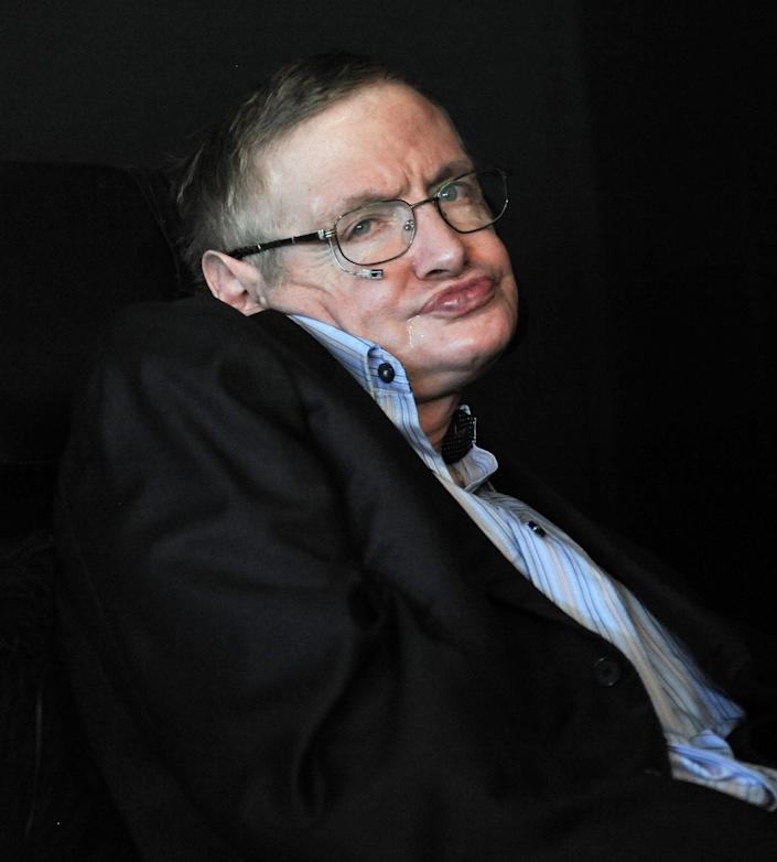 """""""The human race is just a chemical scum on a moderate-sized planet, orbiting around a very average star in the outer suburb of one among a hundred billion galaxies. We are so insignificant that I can't believe the whole universe exists for our benefit. That would be like saying that you would disappear if I closed my eyes."""" -- Stephen Hawking in """"Reality on the Rocks"""" TV series"""