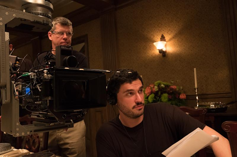 Josh Trank on the set of 'Capone' (Photo: Alan Markfield/Vertical Entertainment)