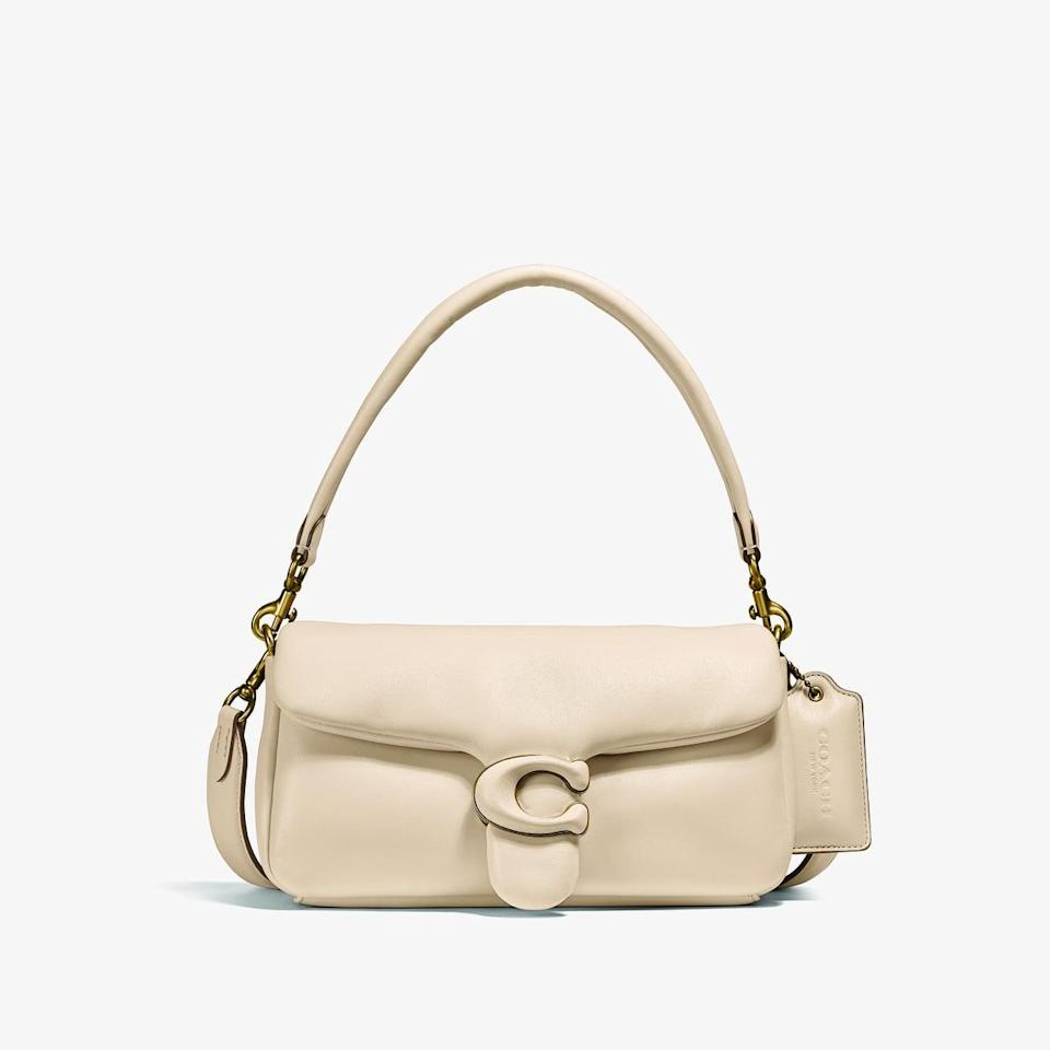 <p><span>Coach Pillow Tabby Shoulder Bag 26 in Brass/Ivory</span> ($495)</p>