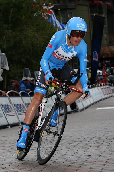 Tom Danielson competes in the individual time trial during Stage 6 of the USA Pro Challenge on August 23, 2014 in Vail, Colorado (AFP Photo/Chris Graythen)