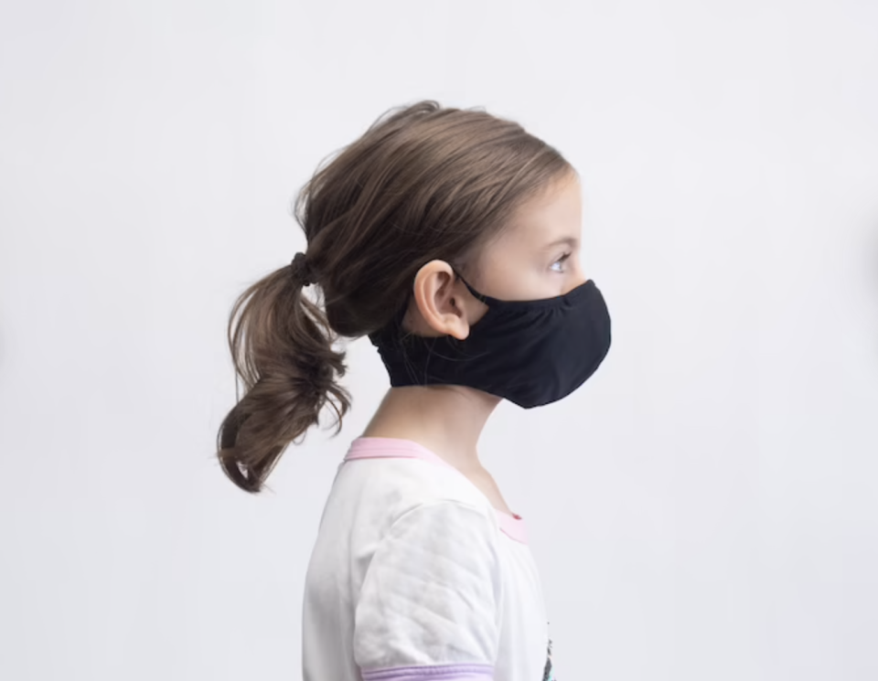 11 breathable masks to wear during your workout: Sports Protection Mask for Children in Black (Photo via Etsy)