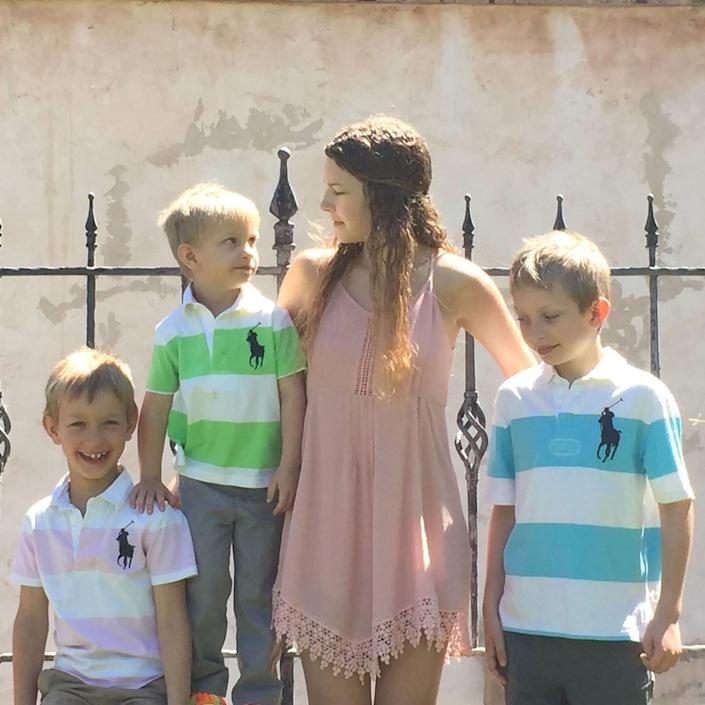 Andy with his older brothers, Johnathan and Blake, and his cousin Sami Siemer. (Cassi Free / Cassi Free)
