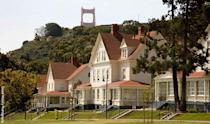 "<p>Located at the base of the Golden Gate Bridge in historic Fort Baker, <a href=""https://www.cavallopoint.com/"" rel=""nofollow noopener"" target=""_blank"" data-ylk=""slk:Cavallo Point"" class=""link rapid-noclick-resp"">Cavallo Point</a> (which is also known as the Lodge at the Golden Gate) offers a level of luxury on par with some of the world's greatest resorts smack dab in the middle of a national recreation area just minutes from downtown San Francisco. (Think top-notch spa services, guided hikes meditation, a cooking school, and even an online vacation planner.) Guests have the option to stay in historic or contemporary lodgings. </p>"