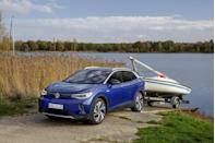"""<p><a href=""""https://www.caranddriver.com/news/a34836228/hyundai-ev-platform-e-gmp/"""" rel=""""nofollow noopener"""" target=""""_blank"""" data-ylk=""""slk:Hyundai vows"""" class=""""link rapid-noclick-resp""""><strong>Hyundai </strong>vows</a> to have 23 EVs worldwide by 2025, underpinned by its new E-GMP platform that was unveiled in late 2020; future Kia EVs will use that platform as well.</p><p><strong>Jaguar</strong> plans to be all-electric. </p><p><strong>Land Rover</strong> promises to have six EVs by the end of the year. </p><p><strong>Toyota </strong>plans to launch 60 new hybrid, electric, or fuel-cell vehicles by the end of the year and expects to have reached its goal of selling 5.5 million electrified offerings each year.</p><p><strong>Volkswagen </strong>plans to have built 1.5 million EVs across its brands by the end of the year. (Pictured: <a href=""""https://www.caranddriver.com/volkswagen/id4"""" rel=""""nofollow noopener"""" target=""""_blank"""" data-ylk=""""slk:2021 ID.4"""" class=""""link rapid-noclick-resp"""">2021 ID.4</a>.)</p><p><strong>Volvo</strong> has pledged to put 1 million hybrid or electric vehicles on the road by the end of the year, and expects 50 percent of its global sales to come from EVs. <br></p>"""