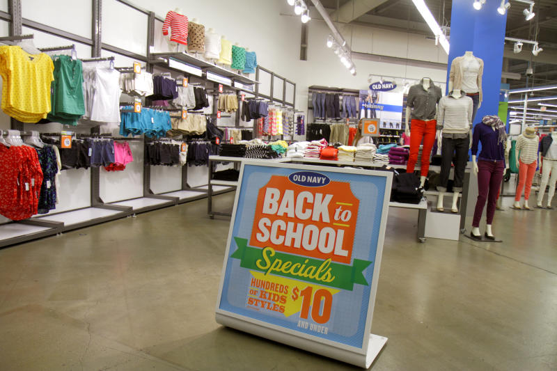 Back to school specials sign in a store at Providence Place Mall. (Photo by: Jeffrey Greenberg/Universal Images Group via Getty Images)