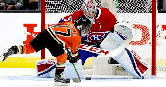 "<em><a class=""link rapid-noclick-resp"" href=""/nhl/players/3782/"" data-ylk=""slk:Carey Price"">Carey Price</a>'s humongous five-hole left plenty of room for <a class=""link rapid-noclick-resp"" href=""/nhl/players/3331/"" data-ylk=""slk:Ryan Kesler"">Ryan Kesler</a>'s son to score during the NHL All-Star shootout.</em>"