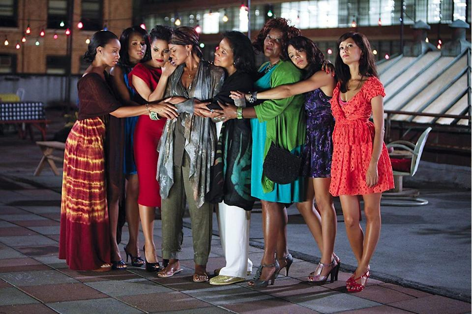 "<p>Adapted from Ntozake Shange's 1975 choreopoem, Tyler Perry's <em>For Colored Girls </em>follows the interconnected lives of 10 Black women in Harlem. </p><p><a class=""link rapid-noclick-resp"" href=""https://www.netflix.com/title/70141655"" rel=""nofollow noopener"" target=""_blank"" data-ylk=""slk:Watch Now"">Watch Now</a></p>"