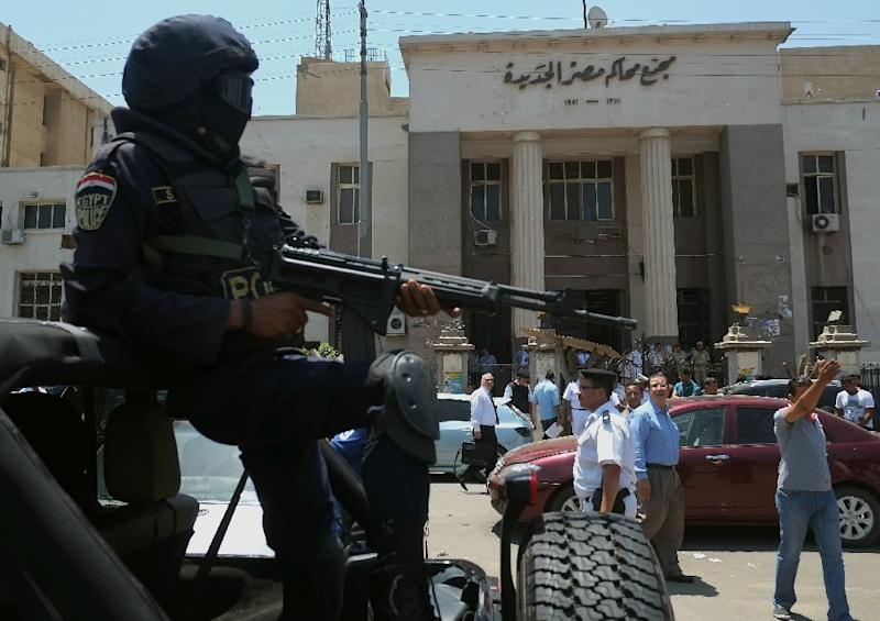 File picture shows an Egyptian police special forces patrol in Cairo where one person was killed in a powerful explosion that partly damaged the Italian consulate