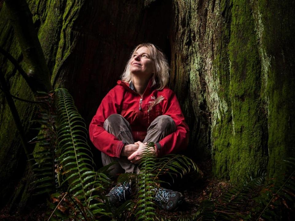 Suzanne Simard, a forestry professor at the University of British Columbia and leader of the Mother Tree Project, thinks a Ted Lasso writer may have read her recently published book, Finding the Mother Tree. (Diana Markosian/Submitted by Suzanne Simard - image credit)