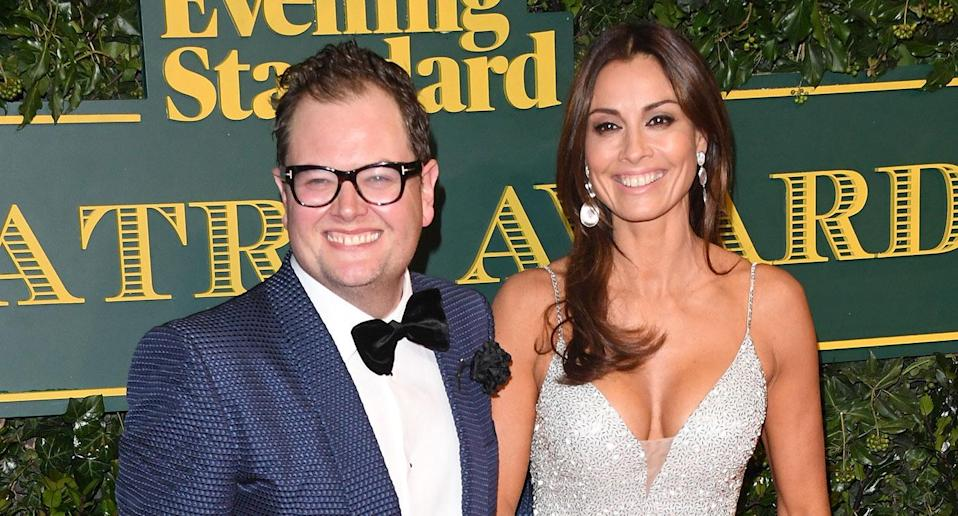 Alan Carr and Melanie Sykes attend the London Evening Standard Theatre Awards at the Theatre Royal on December 3, 2017 in London, England. (Photo by Stuart C. Wilson/Getty Images)