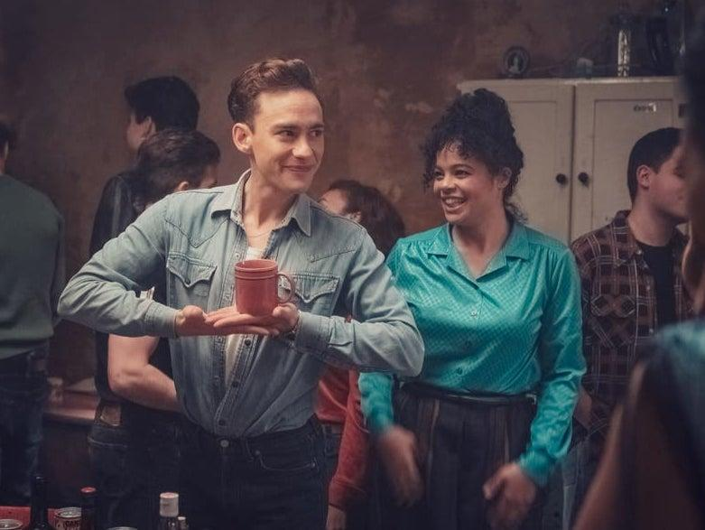 Olly Alexander and Lydia West at the Pink Palace in It's a SinChannel 4