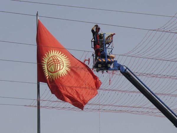 Kyrgyzstan flag (Source: Reuters Pictures)