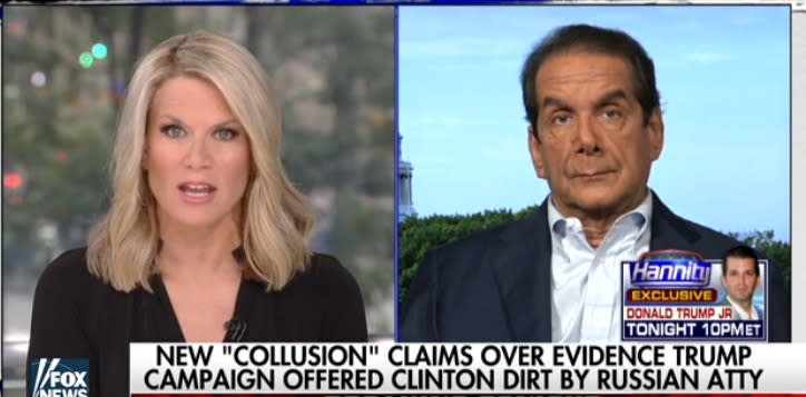 Charles Krauthammer Destroys Donald Trump Jr.'s Defense Of Russia Meeting