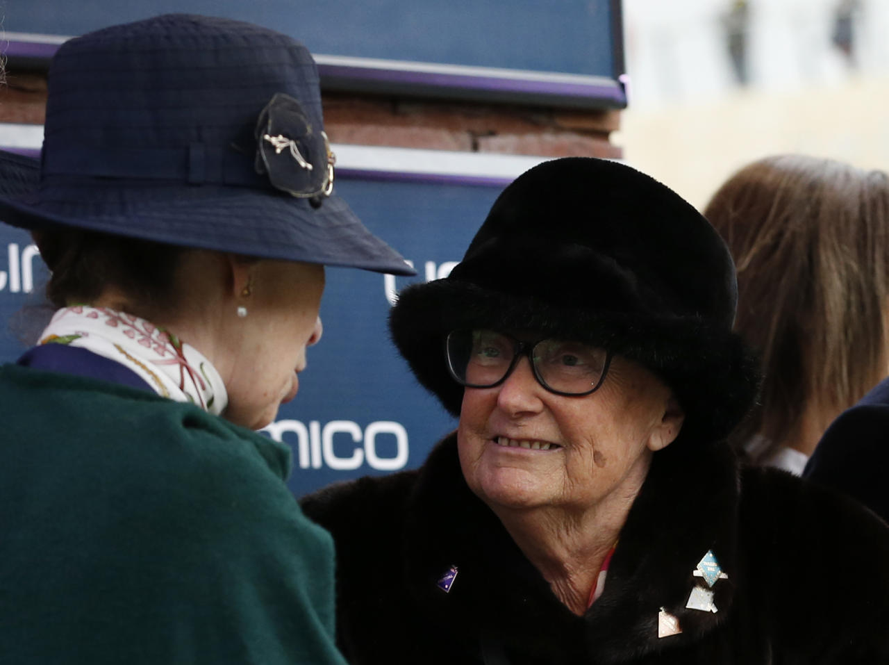 Britain Horse Racing - Cheltenham Festival - Cheltenham Racecourse - 17/3/17 Owner of Sizing John, Ann Potts speaks with Britain's Princess Anne during the presentation after winning the 3.30 Timico Cheltenham Gold Cup Chase Action Images via Reuters / Andrew Boyers Livepic EDITORIAL USE ONLY.