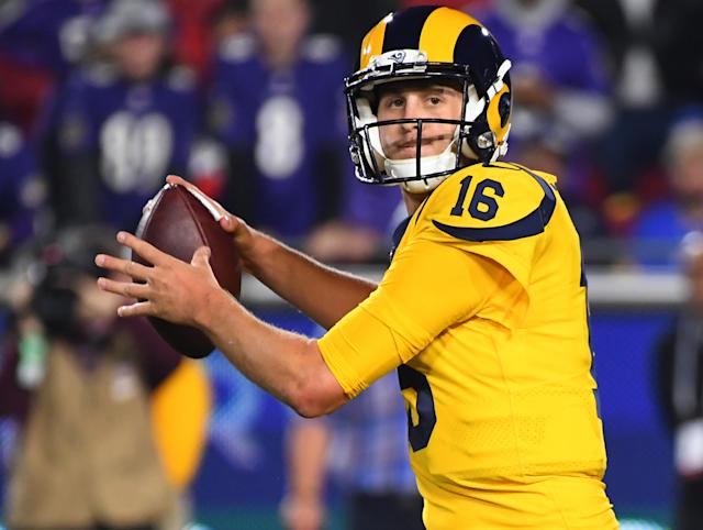 Jared Goff is set up for a rebound week thanks to a favorable matchup against the Cardinals. (Photo by Jayne Kamin-Oncea/Getty Images)