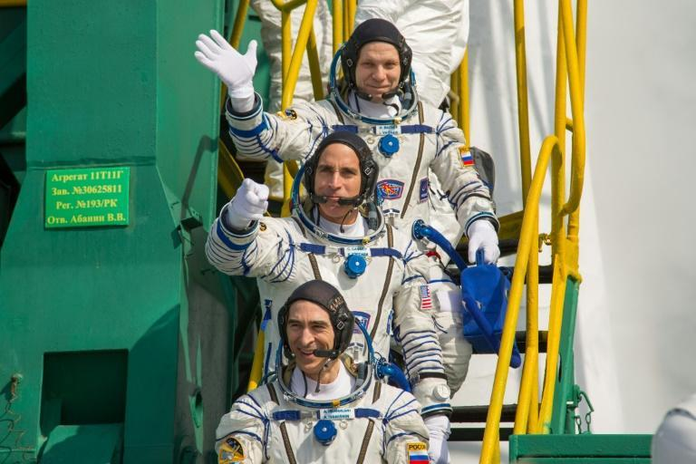 NASA astronaut Chris Cassidy and Russian cosmonauts Anatoly Ivanishin and Ivan Vagner blasted off in April, when around half the world's population was living under lockdown