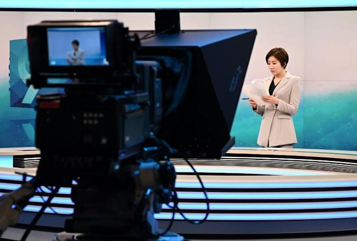 South Korean news anchor Lee So-jeong says she feels the pressure of being a trailblazer in a heavily male-dominated society (AFP Photo/Jung Yeon-je)