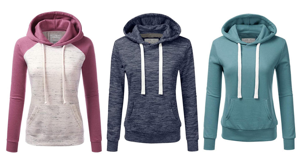 Doublju Basic Lightweight Pullover Hoodie Sweatshirt  (Photo: Amazon)