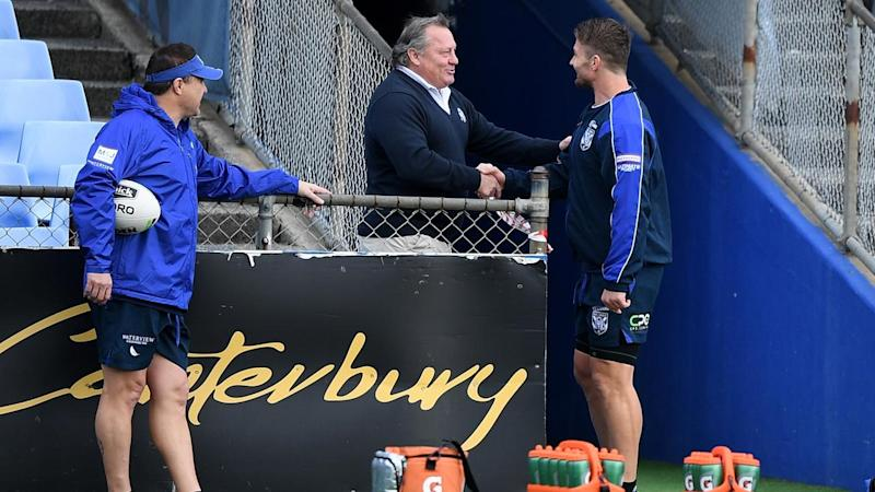 Bulldogs great Terry Lamb has apologised after breaking COVID-19 protocols by visiting training