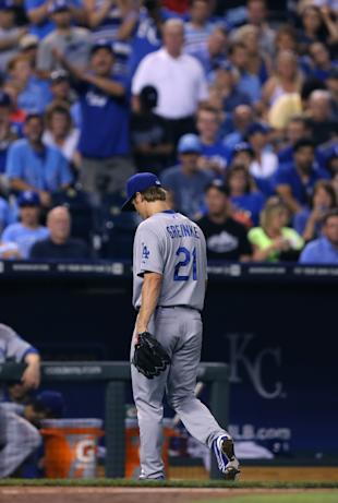 Royals fans weren't hospitable after Zack Greinke exited Monday's ballgame in Kansas City. (Getty Images)