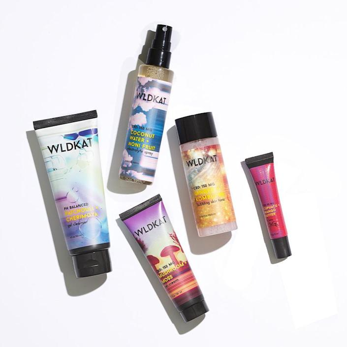 """The planet-friendly skin-care enthusiast can dabble in something new with this gift set from vegan and sustainable brand, Wldkat. This set automatically saves you $27, and with all non-bundles on the site you can get 30% off with code BF30 through November 29. Then, for Cyber Monday, grab a free Wld & Iconic Set with orders of $75 or more, through December 6. The bold packaging and conscious ethos would be a great pick for any <a href=""""https://www.glamour.com/gallery/gifts-for-teenage-girls?mbid=synd_yahoo_rss"""" rel=""""nofollow noopener"""" target=""""_blank"""" data-ylk=""""slk:Gen Z-er on your list"""" class=""""link rapid-noclick-resp"""">Gen Z-er on your list</a>. $112, Wldkat. <a href=""""https://wldkat.com/collections/holiday-gifting/products/the-wldkat-edit"""" rel=""""nofollow noopener"""" target=""""_blank"""" data-ylk=""""slk:Get it now!"""" class=""""link rapid-noclick-resp"""">Get it now!</a>"""