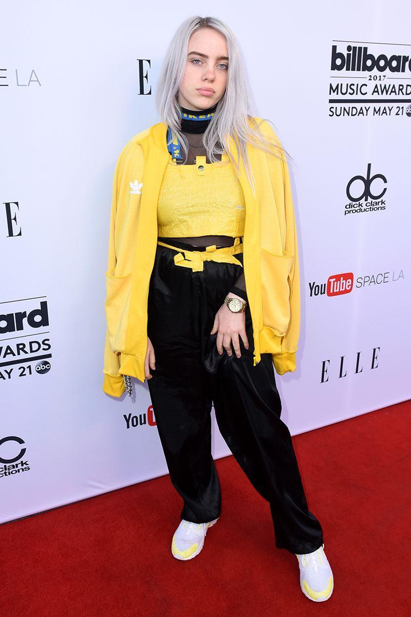 <p>At the 2017 Billboard Music Awards, the star got creative with an IKEA bag top and yellow jumper. </p>