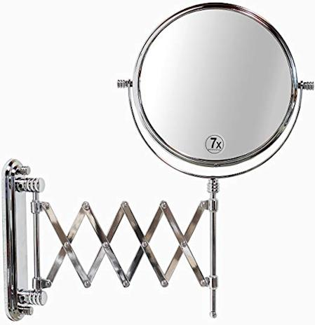 round makeup mirror with spring