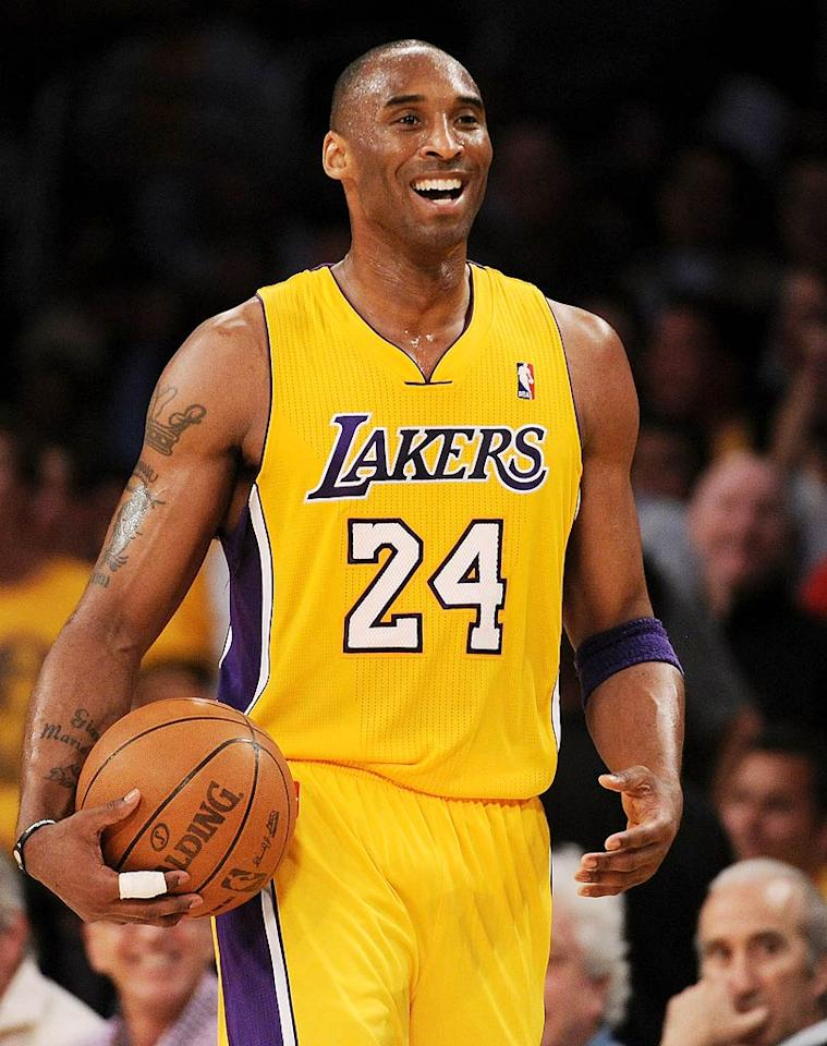 "NBA player Kobe Bryant turns 33. Harry How/<a href=""http://www.gettyimages.com/"" target=""new"">GettyImages.com</a> - April 20, 2011"