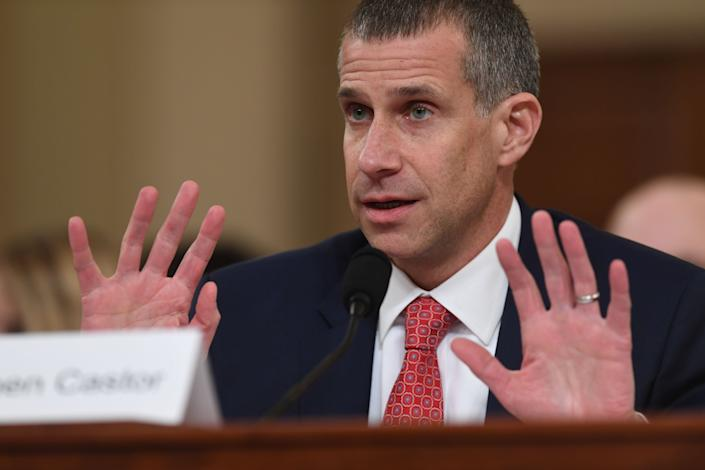 Minority Counsel Stephen Castor testifies during the House Judiciary Committee hearing as part of the impeachment inquiry into U.S. President Donald Trump on Capitol Hill in Washington, D.C. on Dec. 9, 2019. (Photo: SAUL LOEB via Getty Images)
