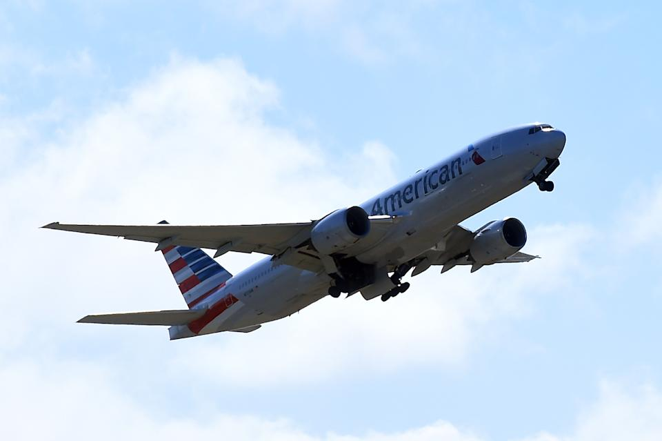 A stock image of an American Airlines plane.