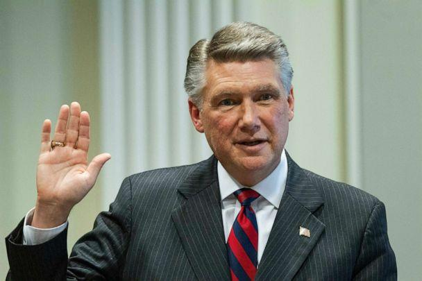 PHOTO: Mark Harris, Republican candidate in North Carolina's 9th Congressional race, prepares to testify during a public evidentiary hearing on the 9th Congressional District voting irregularities investigation. (Travis Long/AP Photo)