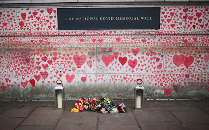 The National Covid Memorial Wall in London - REUTERS/Hannah McKay
