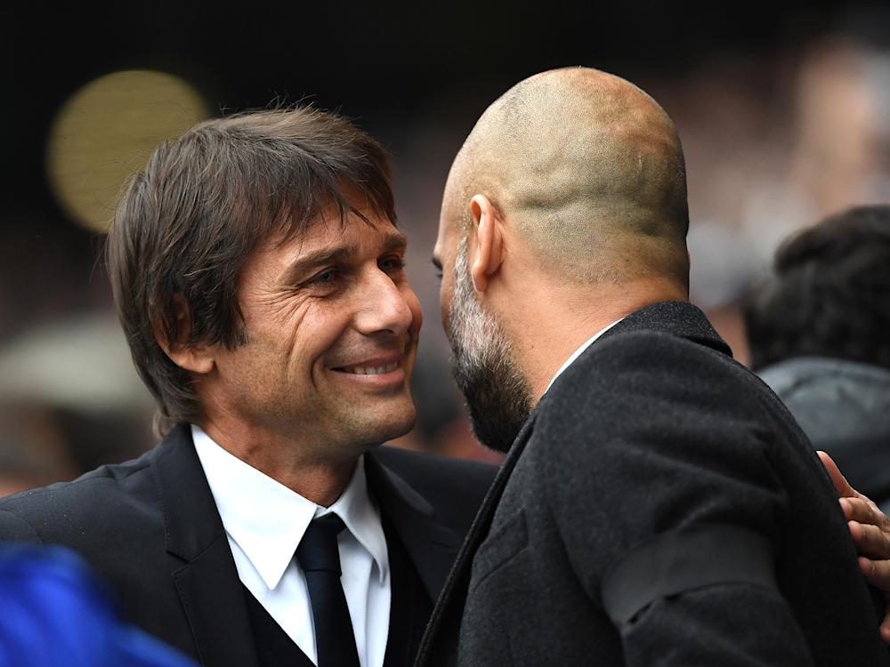 Antonio Conte and Pep Guardiola are both afflicted by an irritable perfectionism: Getty
