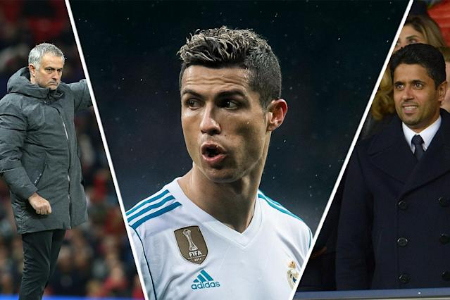 On the move? Real Madrid star Ronaldo could find himself at PSG or Man Utd come the summer