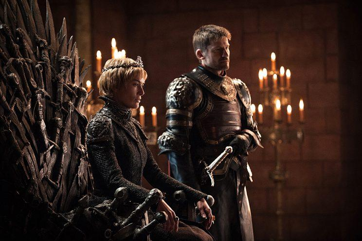 Lena Headey as Cersei Lannister and Nikolaj Coster-Waldau as Jaime Lannister in HBO's Game of Thrones . (Photo Credit: HBO)