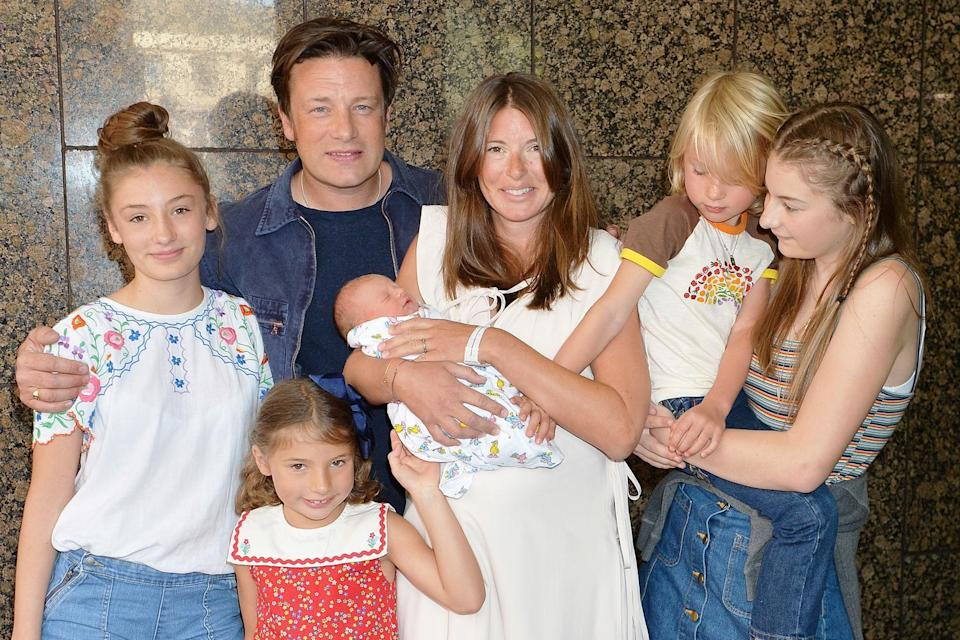 Jamie Oliver has five children with wife Jools. Copyright [John Stillwell/PA]