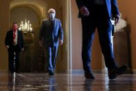 U.S. Senate Majority Leader McConnell walks to the Senate floor at the U.S. Capitol in Washington