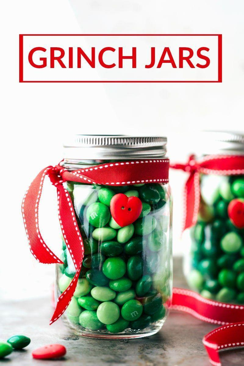 "<p>Fill a Mason jar with green candy (here, Mint M&Ms) and one red heart button, and tie with a red ribbon for a sweet gift even the grumpiest recipients on your list will love. Chelsey's Messy Apron has ideas for Santa, Rudolph, and snowman candy jars too!</p><p><strong>Get the tutorial at <a href=""https://www.chelseasmessyapron.com/christmas-mason-jar-gift-ideas/"" rel=""nofollow noopener"" target=""_blank"" data-ylk=""slk:Chelsea's Messy Apron"" class=""link rapid-noclick-resp"">Chelsea's Messy Apron</a>. </strong></p><p><strong><a class=""link rapid-noclick-resp"" href=""https://www.amazon.com/Regular-Airtight-Storage-Drinking-Overnight/dp/B0854176GN/ref=sr_1_2?dchild=1&keywords=MASON+JAR&qid=1603062493&sr=8-2&tag=syn-yahoo-20&ascsubtag=%5Bartid%7C10050.g.28982778%5Bsrc%7Cyahoo-us"" rel=""nofollow noopener"" target=""_blank"" data-ylk=""slk:SHOP MASON JARS"">SHOP MASON JARS</a><br></strong></p>"