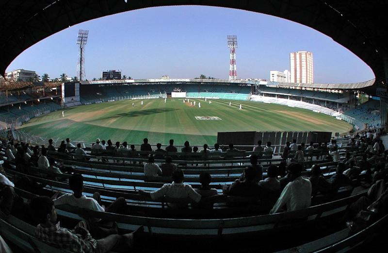 A few spectators watch England field against a Mumbai Cricket Association President's XI at the Wankhede Stadium, Mumbai, India,. (Photo by Rebecca Naden - PA Images/PA Images via Getty Images) (Photo: Rebecca Naden - PA Images via Getty Images)