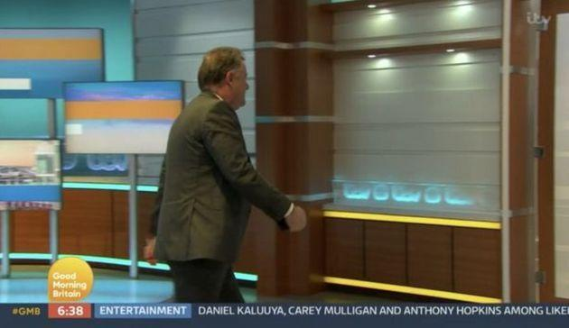 Piers Morgan storms off the Good Morning Britain set (Photo: ITV)