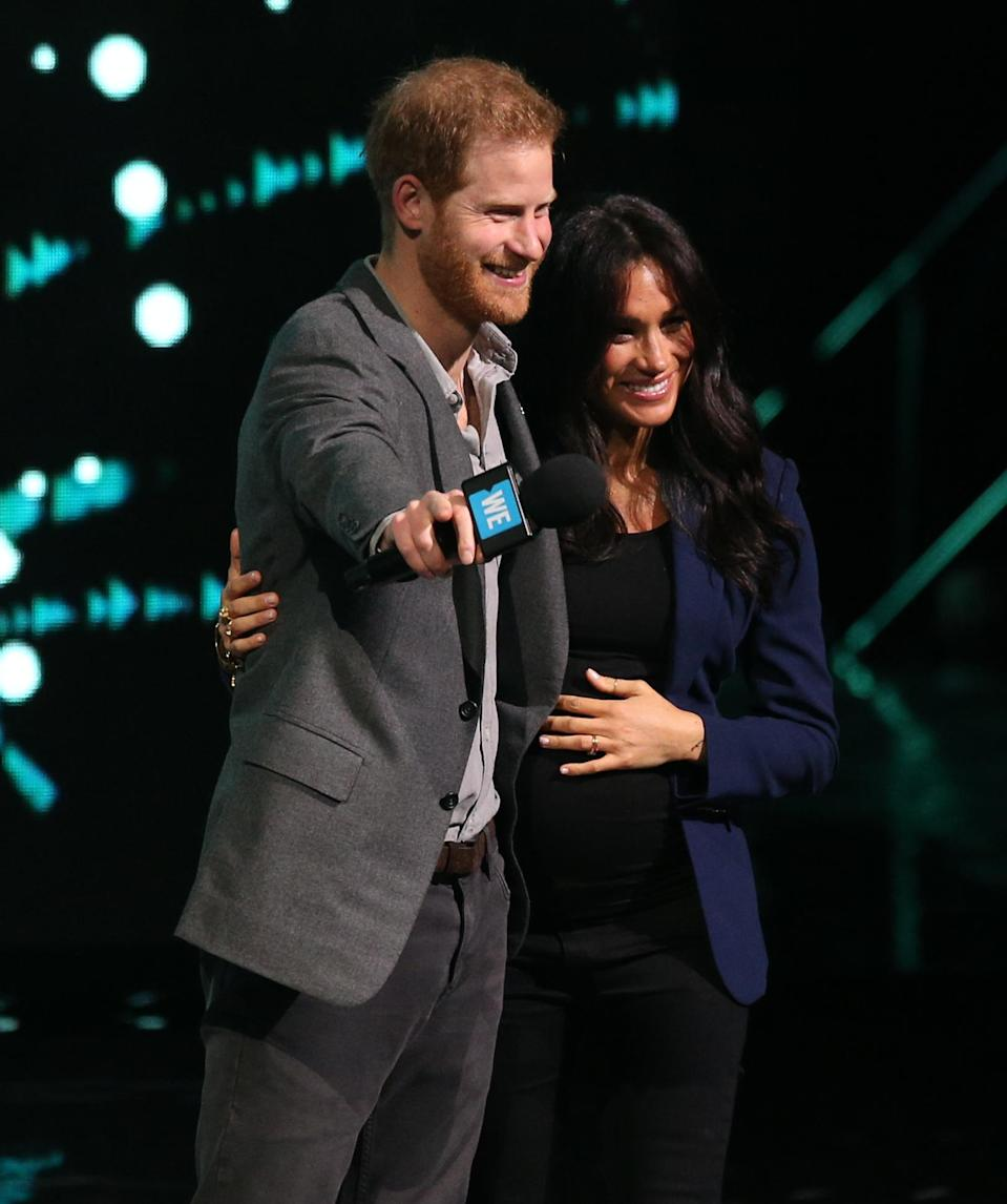 Harry and Meghan at WE Day at Wembley's SSE Arena in March [Photo: PA]