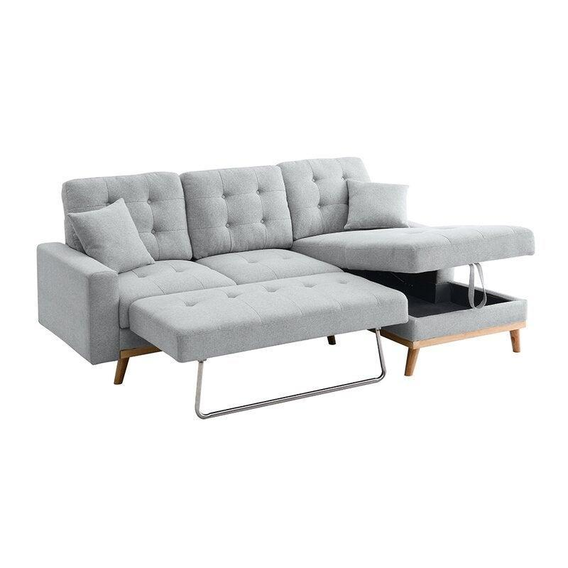 """<h2>Latitude Run Fairbank Sofa Bed</h2><br>This convertible sectional sleeper sofa bears no resemblance to a futon. But, lo and behold, it folds out into a dreamy sleep space with bonus storage to boot.<br><br><strong>Latitude Run</strong> Fairbank Sofa Bed, $, available at <a href=""""https://go.skimresources.com/?id=30283X879131&url=https%3A%2F%2Fwww.wayfair.com%2Ffurniture%2Fpdp%2Flatitude-run-fairbank-sofa-bed-w001062753.html"""" rel=""""nofollow noopener"""" target=""""_blank"""" data-ylk=""""slk:Wayfair"""" class=""""link rapid-noclick-resp"""">Wayfair</a>"""
