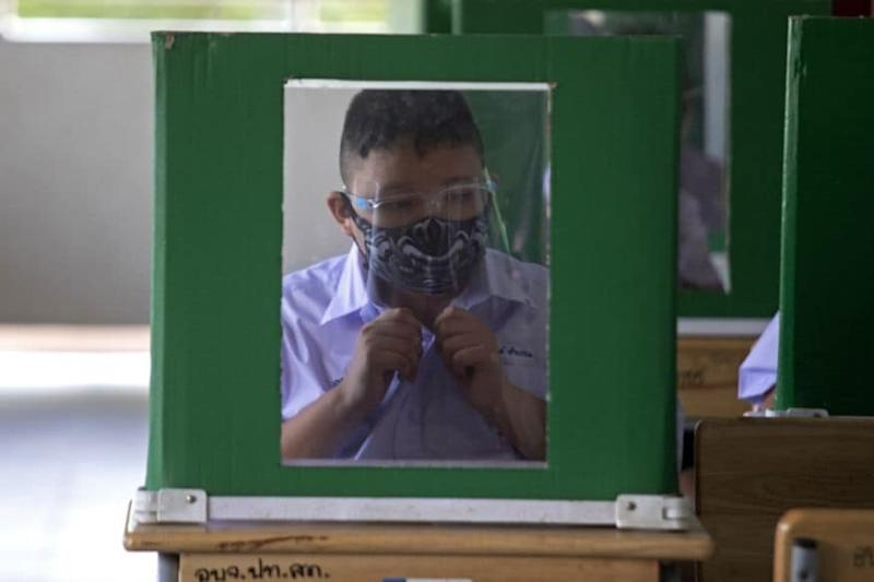 Students Think 'Inside the Box' as Schools Reopen in Thailand with Social Distancing Norms