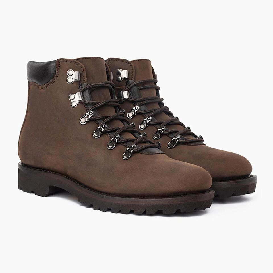 """<p><strong>Thursday Boot Co.</strong></p><p>thursdayboots.com</p><p><strong>$249.00</strong></p><p><a href=""""https://thursdayboots.com/products/mens-commander-hiker-boot-tobacco?collection=mens-boots-new-arrivals"""" rel=""""nofollow noopener"""" target=""""_blank"""" data-ylk=""""slk:Buy"""" class=""""link rapid-noclick-resp"""">Buy</a></p>"""