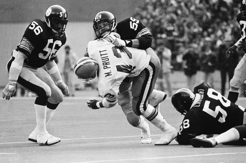 Jack Ham, (59) LB, Steelers, shown in 1979. (AP Photo)
