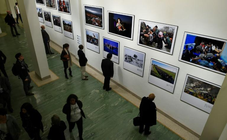 AFP show at the Bozar arts centre in Brussels, titled 'Putting a Face on the Invisibles', features dramatic and sometimes harrowing images of migrants, from Syria and Iraq to Turkey and the Mediterranean