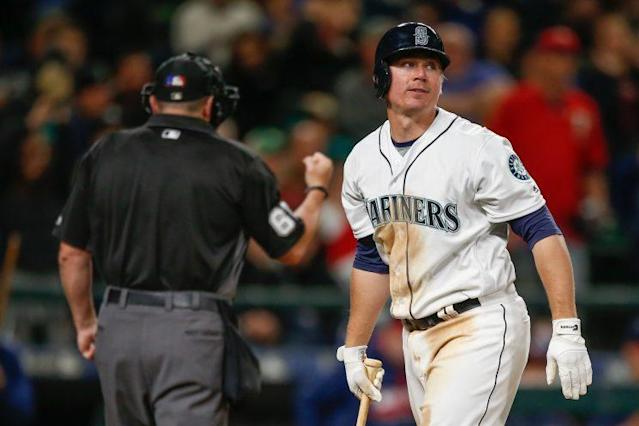 The Mariners are looking into some controversial tweets by catcher Steve Clevenger. (Getty Images/Otto Greule Jr.)