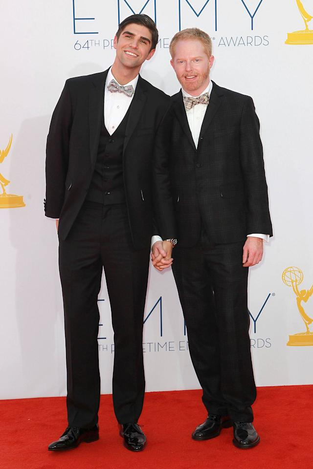Justin Mikita and Jesse Tyler Ferguson 64th Annual Primetime Emmy Awards, held at Nokia Theatre L.A. Live - Arrivals Los Angeles, California - 23.09.12 Mandatory Credit: WENN.com/FayesVision