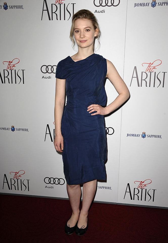 """<a href=""""http://movies.yahoo.com/movie/contributor/1810092808"""">Mia Wasikowska</a> at the Los Angeles premiere of <a href=""""http://movies.yahoo.com/movie/1810224313/info"""">The Artist</a> on November 21, 2011."""